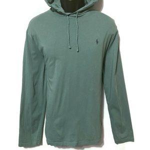 Polo Ralph Lauren Men's Green Hoodie Sweatshirt